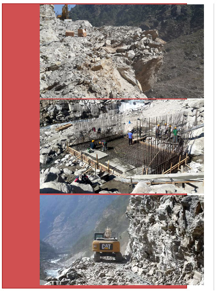 Access Road work for upper Trishuli
